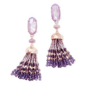 Kendra Scott Dove Lilac Purple Statement Earrings